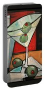 Martini Poster Portable Battery Charger