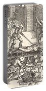 Martyrdom Of Saint Lawrence Portable Battery Charger