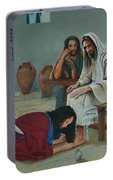 Mary Anoints The Feet Of Jesus Portable Battery Charger