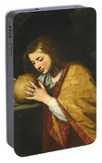Mary Magdalene In Meditation  Portable Battery Charger