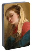 Mary Magdalene In Three-quarter View Veiled In A White Cloth Portable Battery Charger