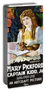 Mary Pickford In Captain Kidd Jr Portable Battery Charger