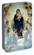 Mary With Angels Portable Battery Charger
