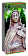 Mary With Cross Portable Battery Charger