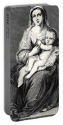 Mary With The Child Jesus Portable Battery Charger