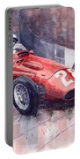 Maserati 250 F Gp Monaco 1956 Stirling Moss Portable Battery Charger
