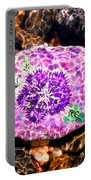Mason's Purple Flower Portable Battery Charger