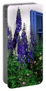 Matching Flowers And  Window Portable Battery Charger