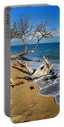 Maui Beach Dirftwood Fine Art Photography Print Portable Battery Charger