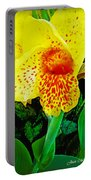 Maui Yellow Floral Portable Battery Charger