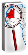 Mauritania Under A Magnifying Glass Portable Battery Charger