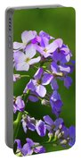 Mauve Flowers  Portable Battery Charger
