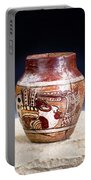 Mayan Pre Columbian Warrior Vase. Portable Battery Charger