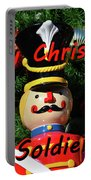 Custom Soldier Christmas Card Portable Battery Charger