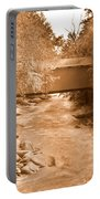 Mcconnells Mill Covered Bridge Sepia Portable Battery Charger