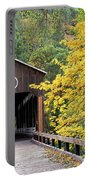 Mckee Bridge In Fall Portable Battery Charger