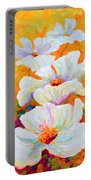 Meadow Angels - White Poppies Portable Battery Charger