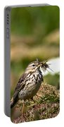Meadow Pipit With Food Portable Battery Charger