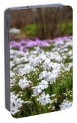 Meadow With Flowers At Botanic Garden In The Blue Mountains Portable Battery Charger