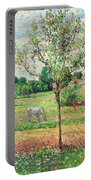 Meadow With Grey Horse, Eragny Portable Battery Charger