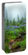 Meadows In The Mist Portable Battery Charger