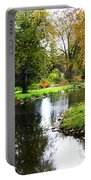 Meandering Creek In Autumn Portable Battery Charger