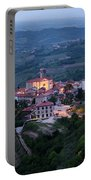 Medieval Hilltop Village Of Smartno Brda Slovenia At Dawn In The Portable Battery Charger