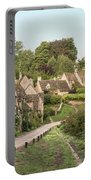 Medieval Houses In Arlington Row In Cotswolds Countryside Landsc Portable Battery Charger