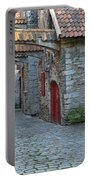 Medieval Lane In Tallinn Portable Battery Charger