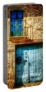 Medieval Spanish Gate And Balcony - Vintage Version Portable Battery Charger