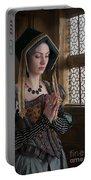 Medieval Tudor Woman At Prayer Portable Battery Charger