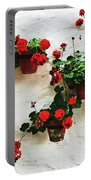 Mediterranean Flower Portable Battery Charger