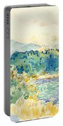 Mediterranean Landscape With A White House Portable Battery Charger