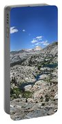 Medley Lake Basin Panorama From High Above - Sierra Portable Battery Charger