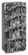 Meenakshi Amman Temple Bw Portable Battery Charger