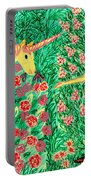 Meeting In The Rose Garden Portable Battery Charger by Sushila Burgess