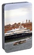 Mega Luxury Yacht The Carinthia Vll In Venice, Italy Portable Battery Charger