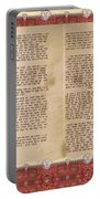 Meguilat Esther-esther Scroll The Whole Text Portable Battery Charger