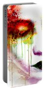 Melancholy In Watercolor Portable Battery Charger