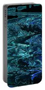 Melting Blue Ice Portable Battery Charger