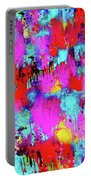 Melting Flowers Abstract  Portable Battery Charger