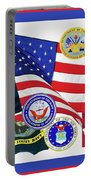 Memorial Day Collage Portable Battery Charger