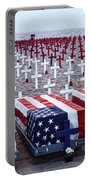Memorial Day Remembrance At The Beach Portable Battery Charger