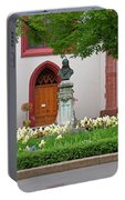 Memorial Of Jp Hebel At Peterskirche In Basel Switzerland Portable Battery Charger