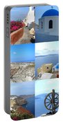 Memories From Santorini Portable Battery Charger