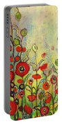 Memories Of Grandmother's Garden Portable Battery Charger