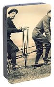 Men On Dual Bicycle, Cca 1900 Portable Battery Charger