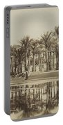Men With Goats Under Palm Trees On The Water In Bedrechen, Bonfils, C. 1895 - In Or Before 1905 Portable Battery Charger