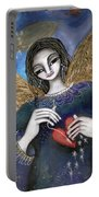 Mender Of Hearts Angel Portable Battery Charger by Prerna Poojara