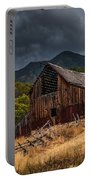 Mendon Utah Barn In Storm Portable Battery Charger by Gary Whitton